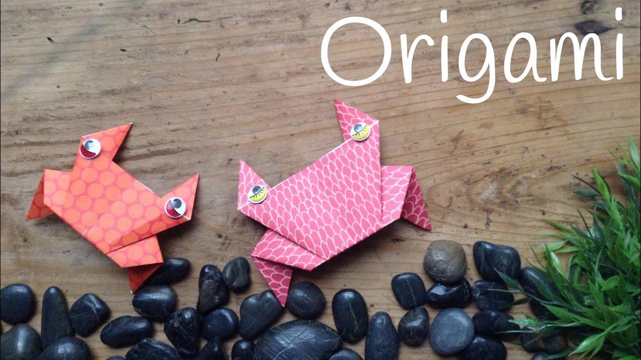 Cangrejo de papel   Origami fácil para niños - YouTube