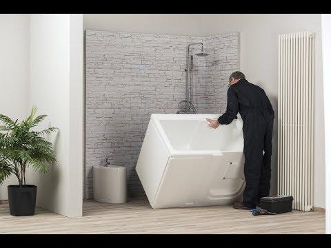 Vasca Da Bagno Zaffiro : Easylife vasca doccia con sportello zaffiro e ambra youtube