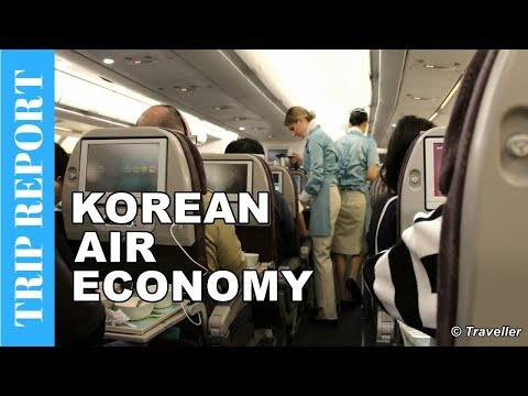 KOREAN AIR ECONOMY CLASS flight to Seoul - Airbus A330 Flight Review - Long Haul flight