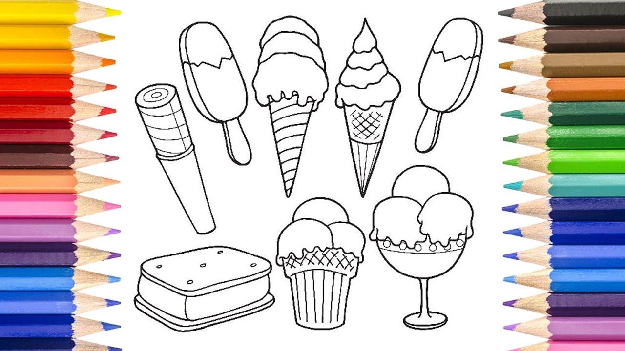 Cocuklar Icin Boyama Kagidi Dondurma Resmi Cizimi Cocuklar