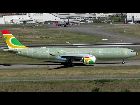 Air Senegal Airbus A330-900NEO Taxi Tests At Toulouse-Blagnac Airport