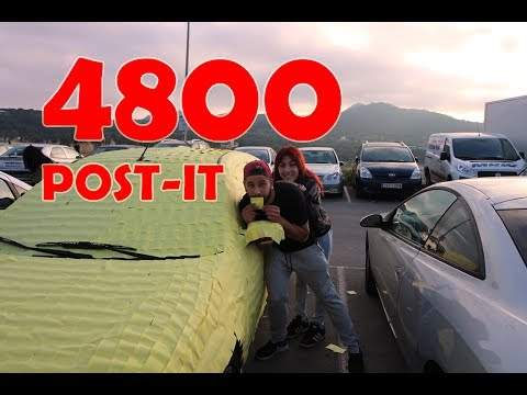 BROMA!! 4800 POST-IT EN SU COCHE!! | (SE ENFADA)