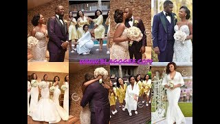 Official Pictures And Videos From John Dumelo's White Wedding With Stars