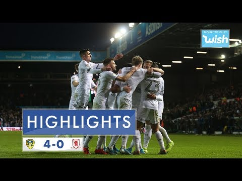 Highlights | Leeds United 4-0 Middlesbrough | 2019/20 EFL Championship