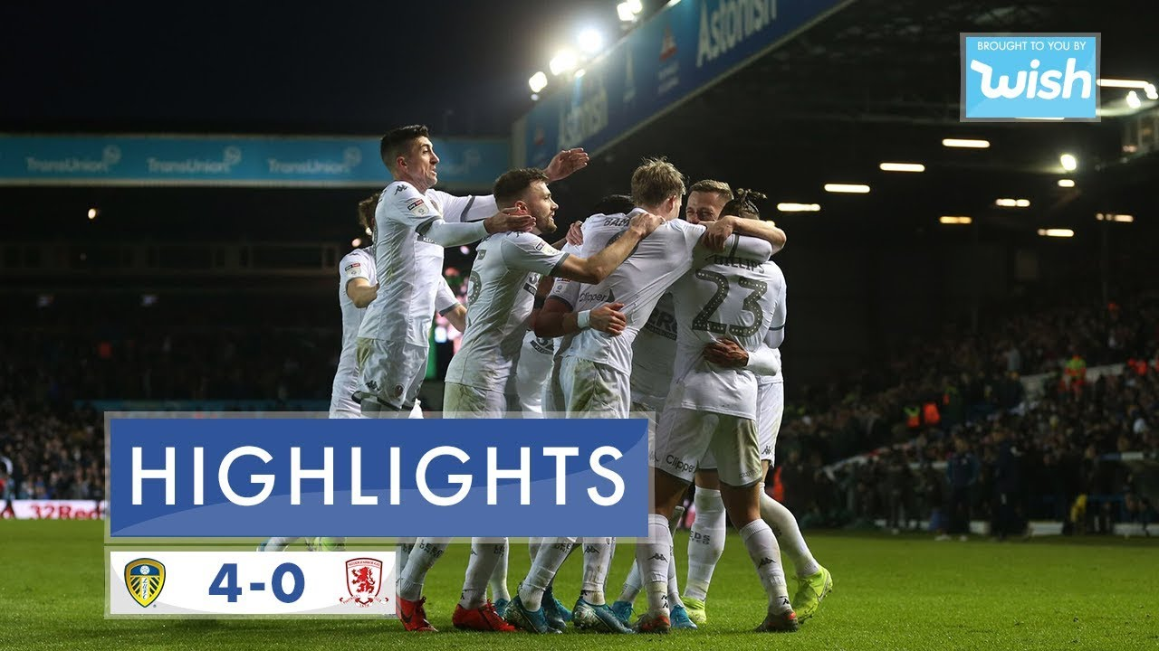 Лидс Юнайтед  4-0  Мидлсбро видео
