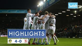 Highlights | Leeds United 4-0 Middlesbrough | 2019/20 EFL Championship