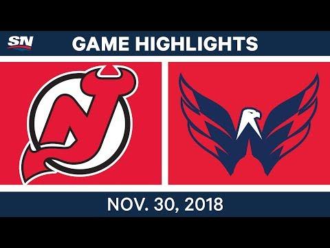 NHL Highlights | Devils vs. Capitals - Nov 30, 2018