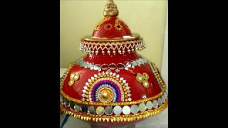 Kalash Decoration For Navaratri //Garba Pot Decoration Ideas
