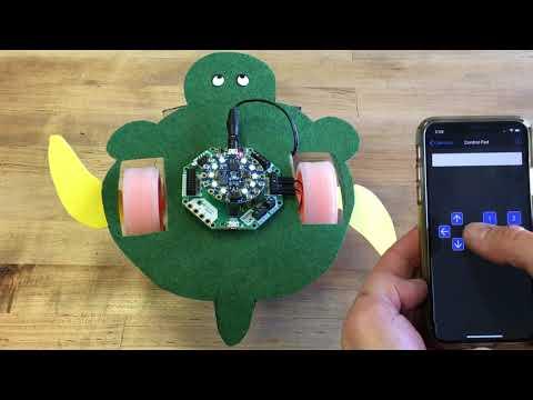Turtle Rover Bot Circuit Playground Bluefruit demo @adafruit @johnedgarpark #adafruit