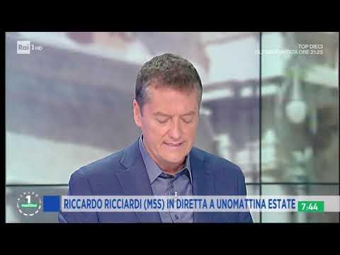 Riccardo Ricciardi ospite a Unomattina Rai1 il 3/07/20