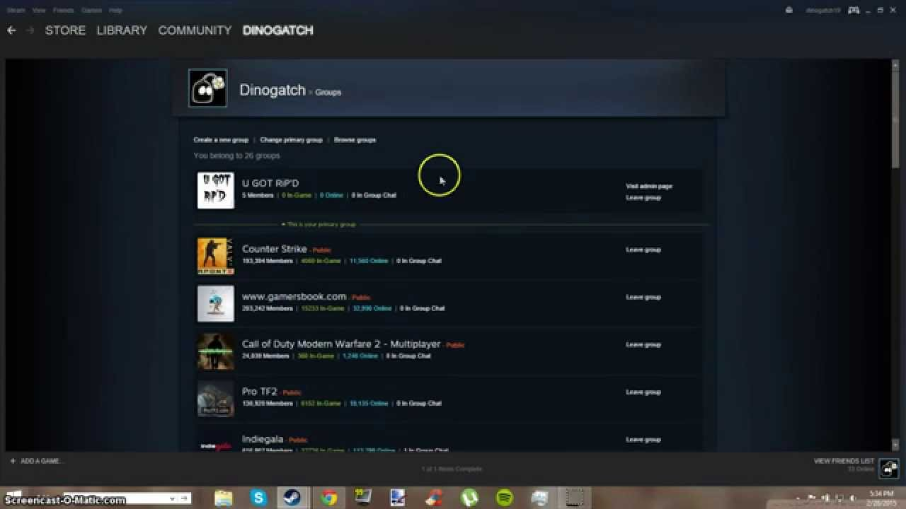 How to find a Steam Group ID