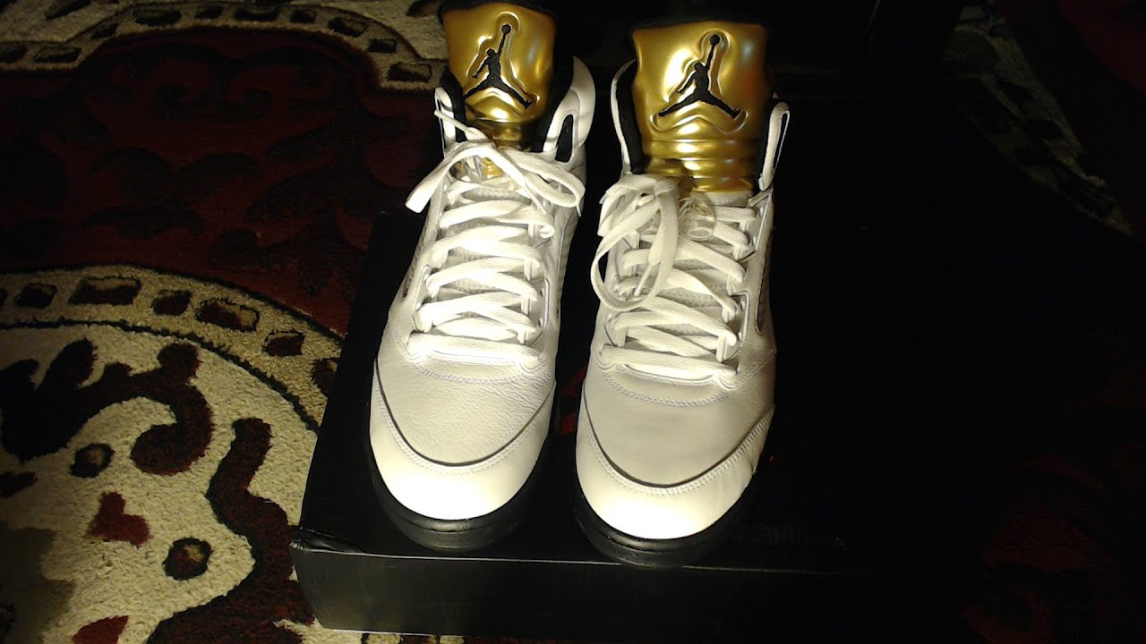 Air Jordan 5 Olympic (Gold Medal) Unboxing+Review On Foot - YouTube 3ea63aef6