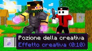CACCIA ALL'UOMO MA USO LA CREATIVA IN POZIONE - Minecraft ITA SPEEDRUN