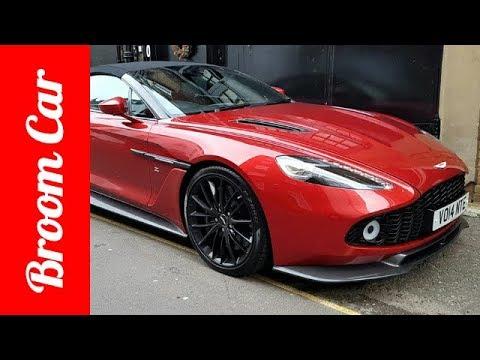 1 Of 99 Aston Martin Vanquish Zagato Volantes Spotted In London - Broom Car