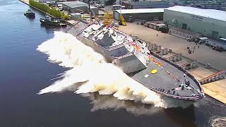 5 MASSIVE Military Ship Launches
