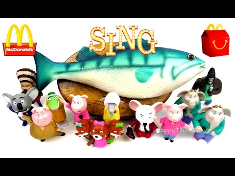 Mcdonald 39 s sing movie happy meal toys talking singing for Talking fish toy