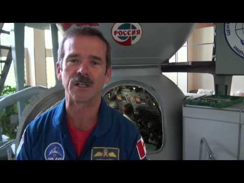Astronaut Chris Hadfield trains in a Soyuz Simulator in Star City, Russia.