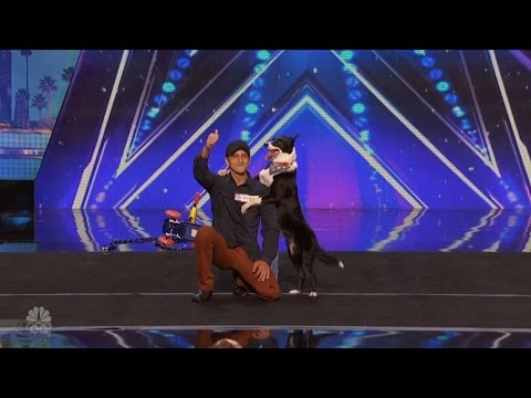 America's Got Talent 2016 Patrick & Ginger The Most Talented Dog in the World Full Audition Clip S