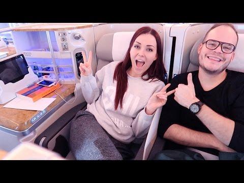Business class vliegen met Emirates! | Vloggloss 794