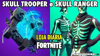 FORTNITE-TODAY'S ITEMS STORE 10/10 SKULL TROOPER AND NEW SKULL RANGER SKIN (SKULL GUARD) 💀