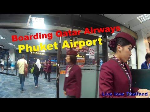 Boarding Qatar airways - Phuket international Airport