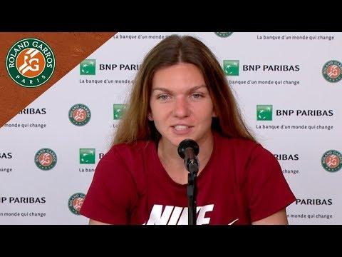 Simona Halep - Press Conference after Semi-Final I Roland-Garros 2018
