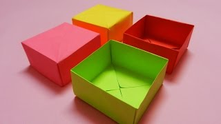 How To Make A Paper Box - Easy Paper Box Hd Tutorial