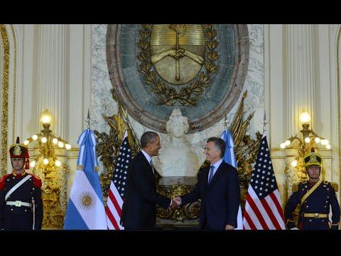 VIDEO: Así fue el recibimiento de Macri a Obama en Casa Rosada