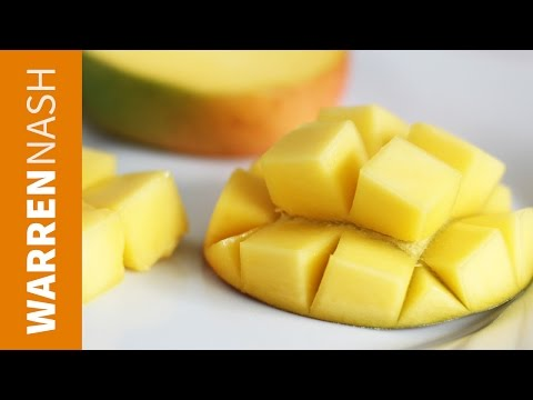 How to cut a Mango with a knife - 60 second vid - Warren Nash
