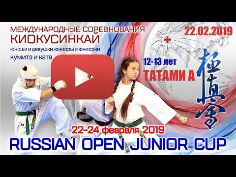 Russian Open Junior Cup (8-9, 10-11, 12-13 лет). Татами А