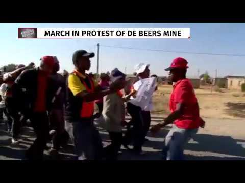 Sekhing community members march against illegal mining practices