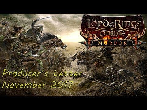 LOTRO - Producer's Letter November 2017