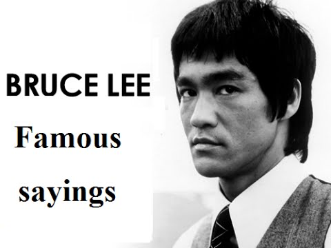 Bruce lee- Motivational_inspirational Video Famous sayings. - YouTube