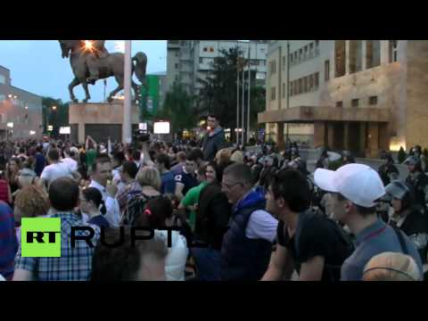 Macedonia: Fresh opposition protests sweep Skopje