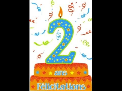 Top Joyeux anniversaire (2 ans) - YouTube NN79