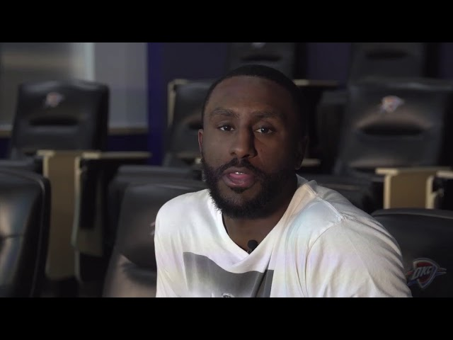 Oklahoma City Thunder`s Patrick Patterson tells Wish Kid Shawn to stay strong
