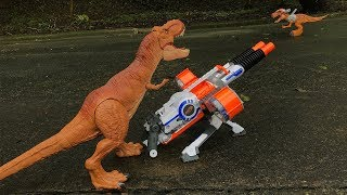 DINO NERF WAR - Prehistoric dinosaurs for kids toys epic war battle fight