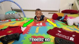 BABY BROTHER CHOOSES HIS TEAM *This Could Go Horribly Wrong!!