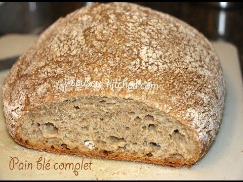 Recette pain allemand خبز الماني Pain blé complet/German ...  Recette pain al...