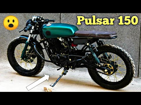 Modified Pulsar 150 Into CafeRacer By ASG CUSTOM Motorcycles Bike Modification MotoMahal #Pulsar150