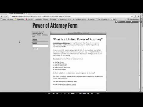 What is Limited Power of Attorney?