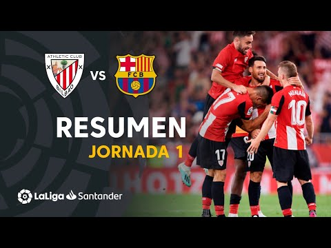 VIDEO: Goles de Athletic Club vs FC Barcelona