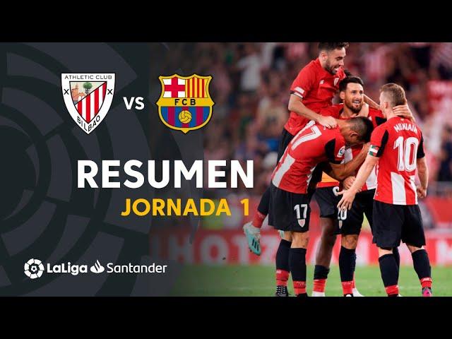 Resumen de Athletic Club vs FC Barcelona (1-0)