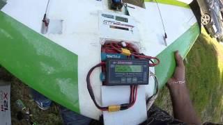 Test consommation moteur OS OMA 3820 1200kv -W  sur Zephyr-2