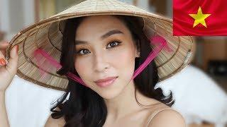 GRWM in Vietnam!  Natural Makeup & Hair - Trang điểm và làm tóc tự nhiên