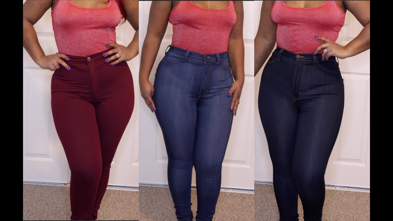 FASHION NOVA HAUL! High waist jeans and extras! - YouTube