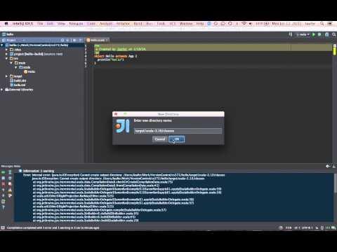 Getting started with Scala development using IntelliJ IDEA + SBT