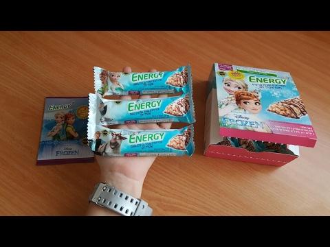 חטיף ENERGY לילדים בטעם עוגיות עם מדבקות קיר של FROZEN ☃️🌻⛄❄