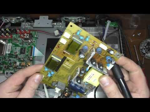 Телевизор  SUPRA STV-LC2210W  ремонт блока питания