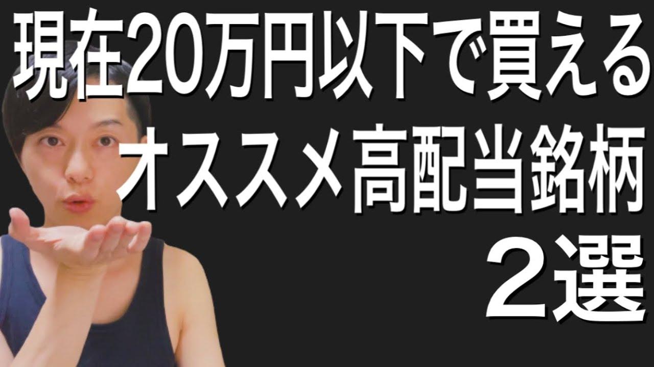 現在20万円以下で買えるオススメ高配当銘柄2選!